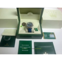 Rolex replica day-date white gold strip leather blue orologio replica copia imitazione