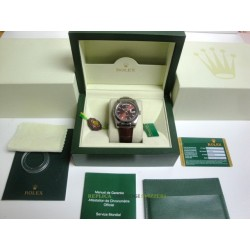 Rolex replica day-date white gold strip leather cherry orologio replica copia imitazione