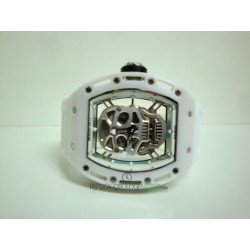 Richard Mille replica RM052 skull nano strip rubber white skeletron orologio replica copia imitazione