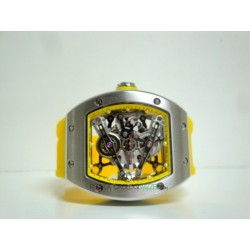Richard Mille replica RM038 bubba watson strip yellow rubber skeletron orologio replica copia imitazione