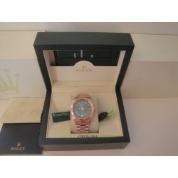 Rolex replica day-date rose gold green dial orologio replica copia imitazione