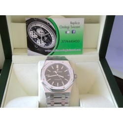 Audemars Piguet replica royal oak jumbo black dial skeletron orologio replica copia imitazione